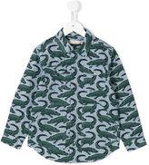 Stella McCartney crocodile print shirt - kids - Cotton - 2 yrs