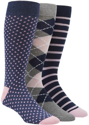 The Tie Bar PINK AND NAVY SOCK PACK