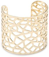 a.v. max Spider Web Gold-Plated Cuff Bracelet