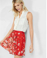 Express original fit ruffle sleeveless portofino shirt