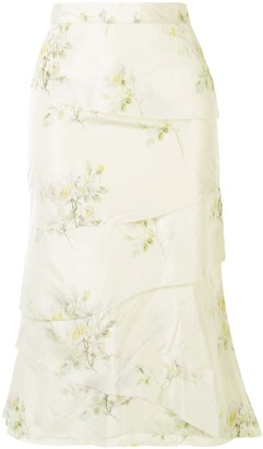 Brock Collection Tiered Floral Skirt