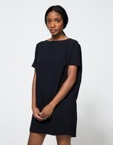 Angle Mini Dress in Black-Blue