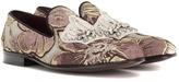 Dolce & Gabbana Embellished Jacquard Loafers