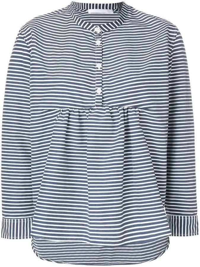Peter Jensen collarless striped shirt