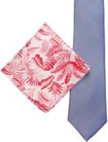 James Harper Geo & Floral Tie And Pocket Square Set