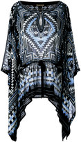 Roberto Cavalli printed batwing tunic - women - Silk/Viscose - 40
