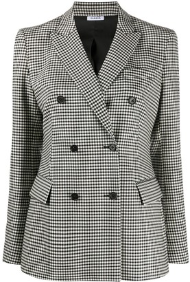 P.A.R.O.S.H. Checked Double Breasted Blazer