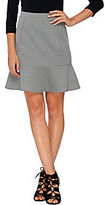 As Is Whitney Port Fit and Flare Scuba Knit Skirt with Seaming Details