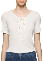Calvin Klein Jeans Short Sleeve Front Lace Up Tee