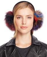 Surell Multi Color Fox Fur Ear Muffs - 100% Exclusive