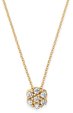 Bloomingdale's Diamond Cluster Pendant Necklace in 14K Yellow Gold, 0.15 ct. t.w. - 100% Exclusive