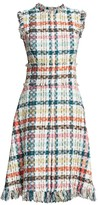 Oscar de la Renta Spring Tweed Fringe Day Dress