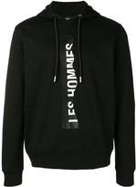 Les Hommes logo drawstring hoodie