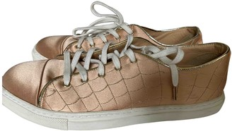 Charlotte Olympia Pink Cloth Trainers