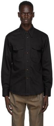 Lemaire Black Western Shirt