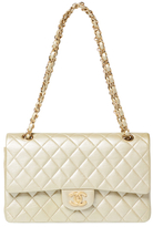 Chanel Vintage Gold Quilted Lambskin Classic Flap Medium