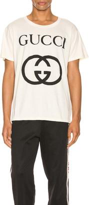 Gucci Oversize Interlocking G Tee in Sunkiss & Black   FWRD