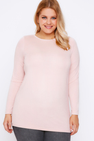 Yours Clothing Nude Pink Long Sleeve Soft Touch Jersey Top