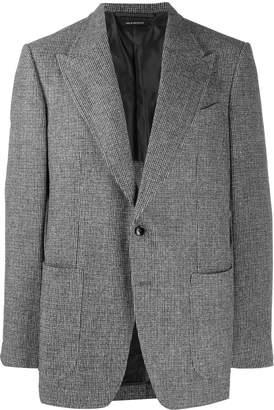 Tom Ford plaid print blazer