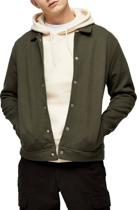 Topman Classic Fit Snap-Up Shirt Jacket
