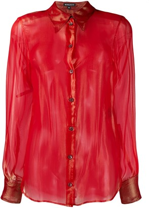 Ann Demeulemeester Sheer Silk Shirt