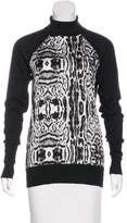 Thomas Wylde Silk-Accented Cashmere Top
