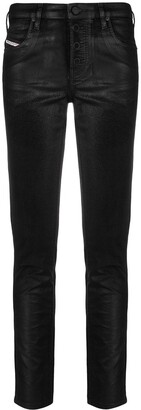 Diesel Leather Mid-Rise Skinny Jeans
