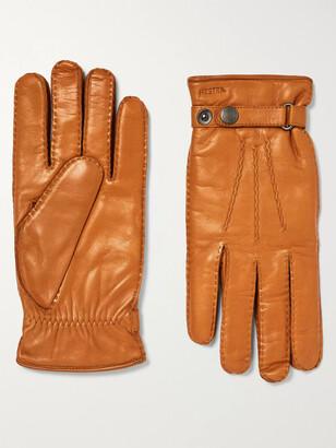 Hestra Jake Wool-Lined Leather Gloves - Men - Brown