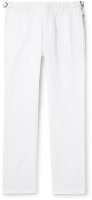 Orlebar Brown IWC Schaffhausen Griffon Cotton and Linen-Blend Trousers - Men - White