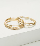 LOFT Pave Drop Bangle Set