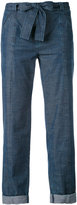 A.P.C. bow-fastening jeans - women - Cotton - 34
