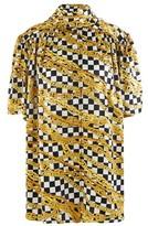 Balenciaga Gold Chains Light short-sleeved silk shirt
