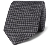 Turnbull & Asser 8cm Silk-jacquard Tie - Black