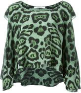 Givenchy ruffled leopard print top