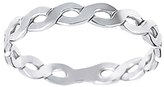 Journee Collection Sterling Silver Twist Band