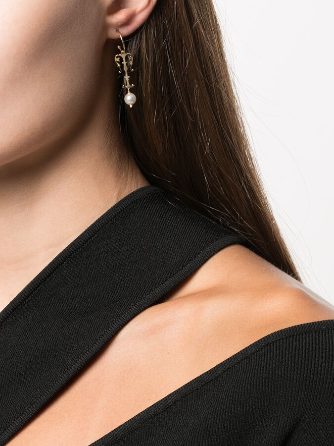 Thumbnail for your product : Simone Rocha T initial single hoop earring