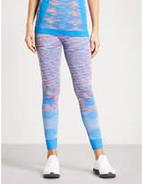 adidas by Stella McCartney Yoga Seamless Space-Dye jersey leggings