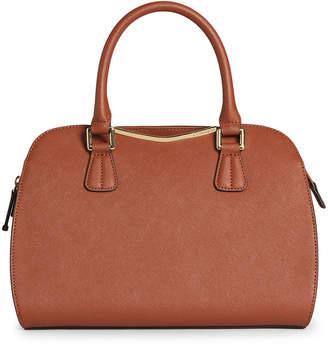 Calvin Klein Saffiano Faux Leather Satchel