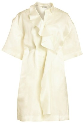 Nina Ricci Silk Organza Ruffle Dress
