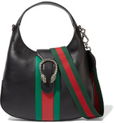 Gucci Dionysus Hobo Leather Shoulder Bag - Black