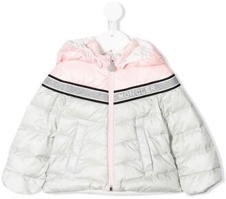 Moncler Enfant Glitter Logo Padded Jacket