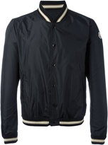 Moncler striped trim bomber jacket
