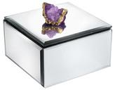 Jay Import Mirrored Amethyst Agate Box