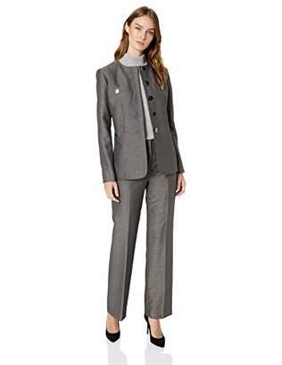 Le Suit Women's 5 Button Jewel Neck Novelty Pant Suit