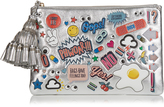 Anya Hindmarch All Over Stickers Georgiana large leather clutch