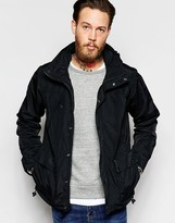 Penfield Parka With Hood Showerproof In Black
