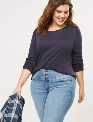 Lane Bryant Long-Sleeve Crew-Neck Tee