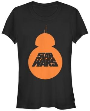 Fifth Sun Star Wars Women's Bb-8 Silhouette Logo Short Sleeve Tee Shirt