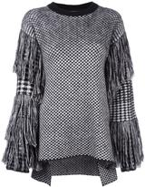 Ports 1961 fringed checked jumper
