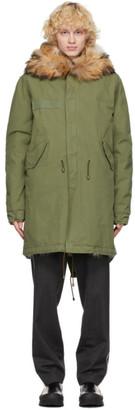 Mr & Mrs Italy Green Army Shell Jacket